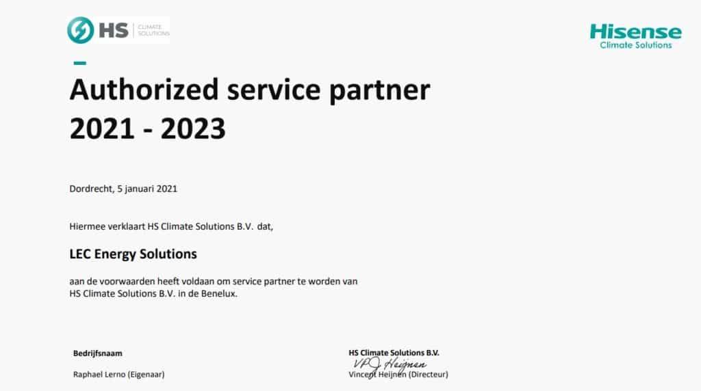 Hisense airco authorized service partner, Lec energy solutions